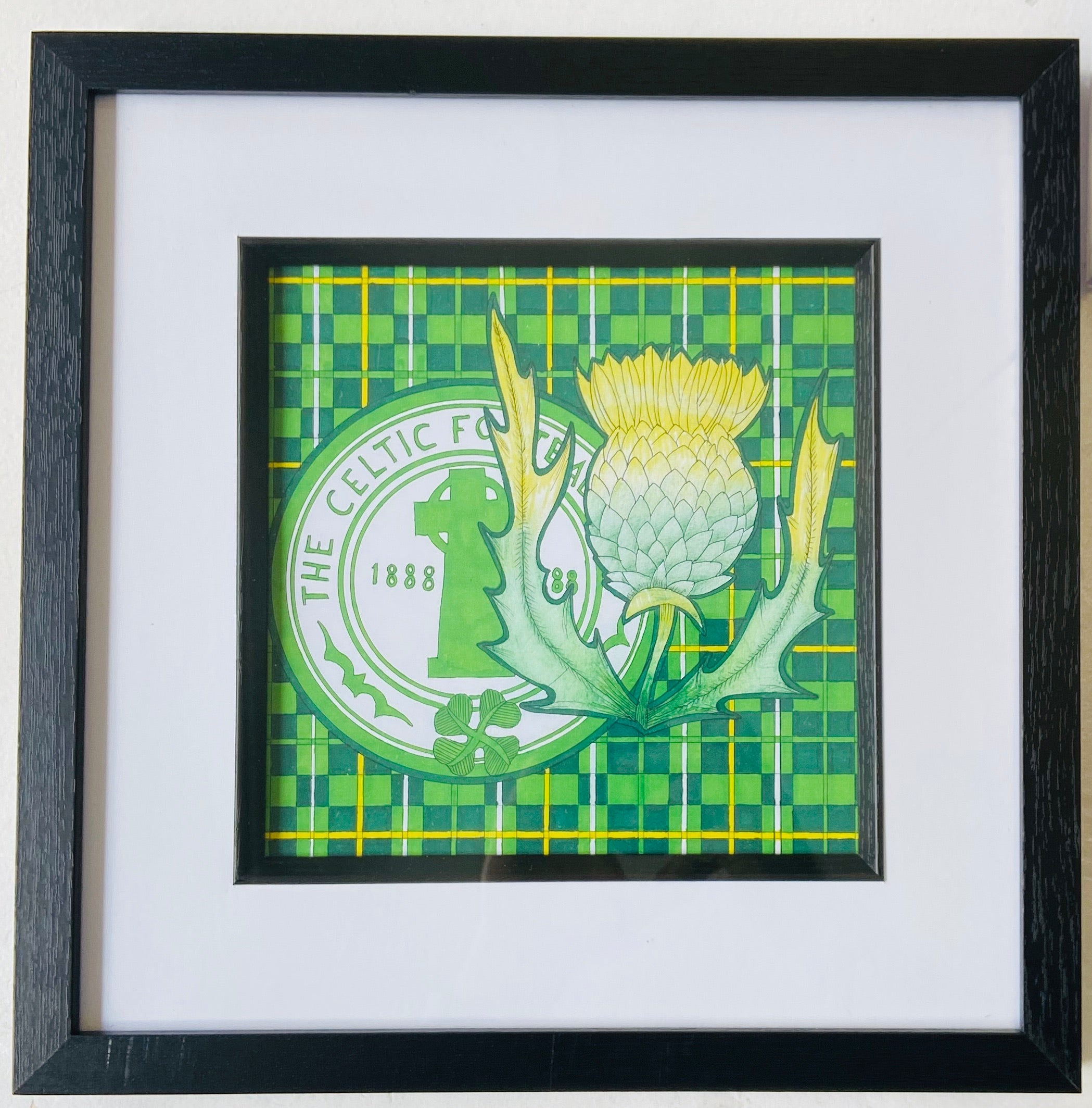 Celtic Freehand Drawing- Framed