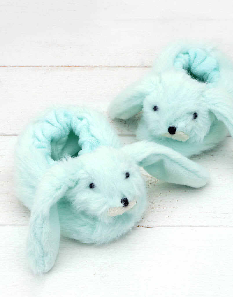 Green Baby Bunny Slippers