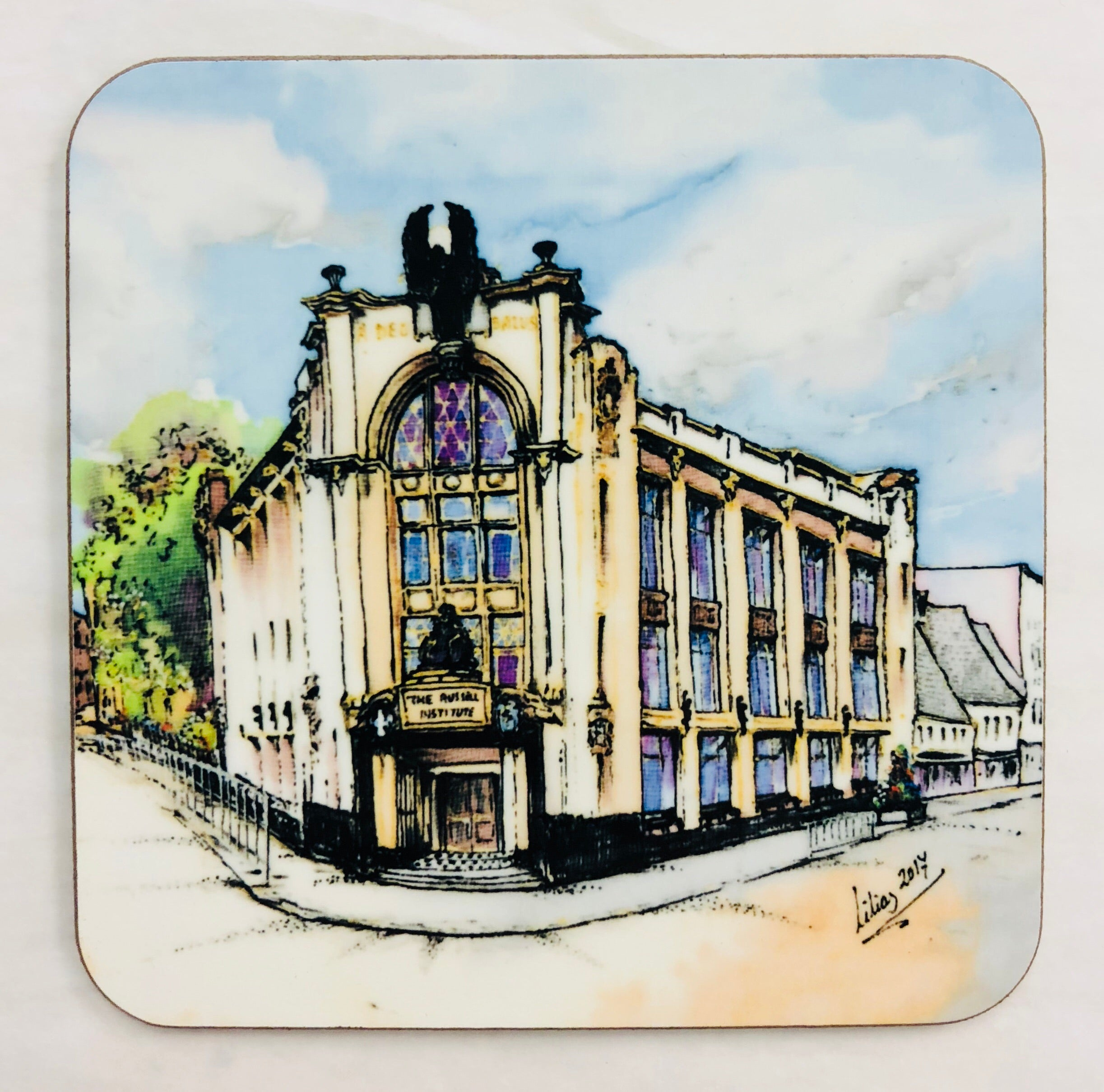 """Russell Institute, Paisley"" Coaster"