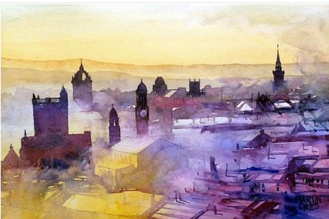 Paisley Skyline Watercolour