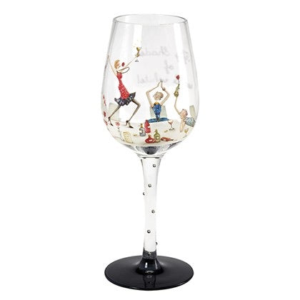 50 Shades of Red & White Wine Glass
