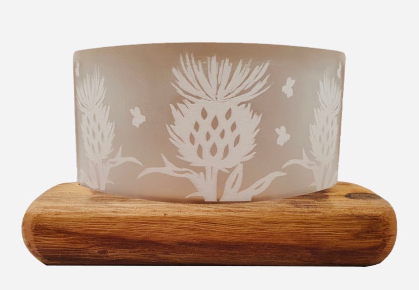 Thistle Whisky Tealight Holder
