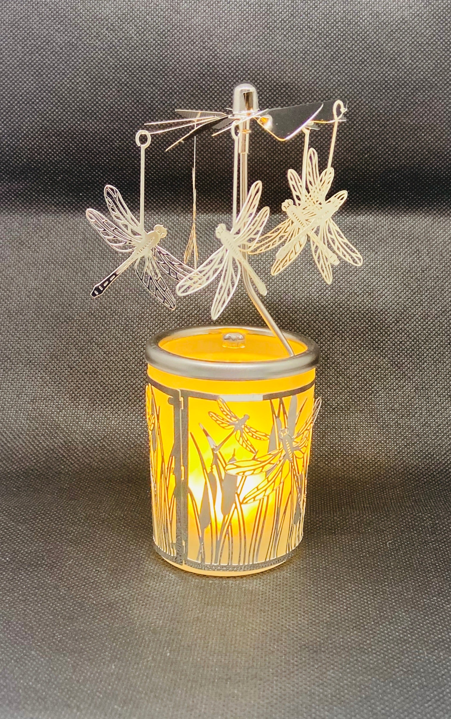 Rotating Tea Light Holder- Dragonfly