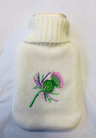 Thistle Hot Water Bottle & Cover
