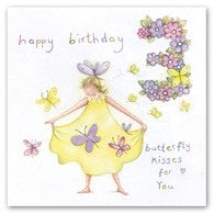 Happy Birthday Butterfly Kisses Card