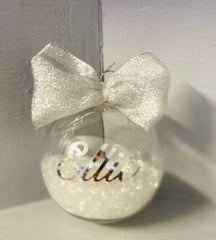 Personalised Christmas Baubble- Gold