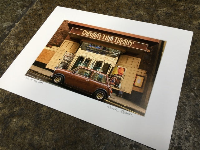 Mini at the Glasgow Film Theatre Mounted Wall Print