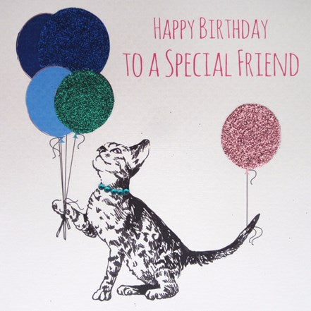 Happy Birthday Special Friend Cat