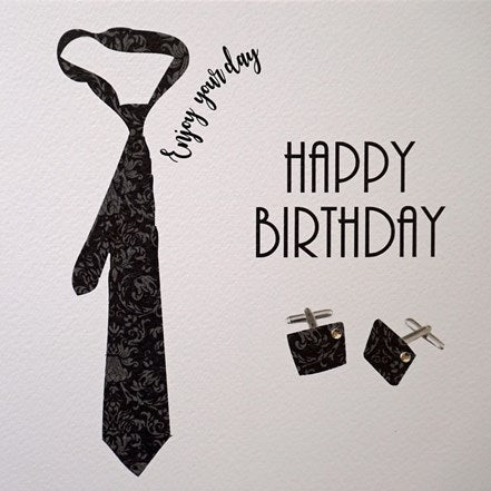 Happy Birthday Tie and Cufflinks