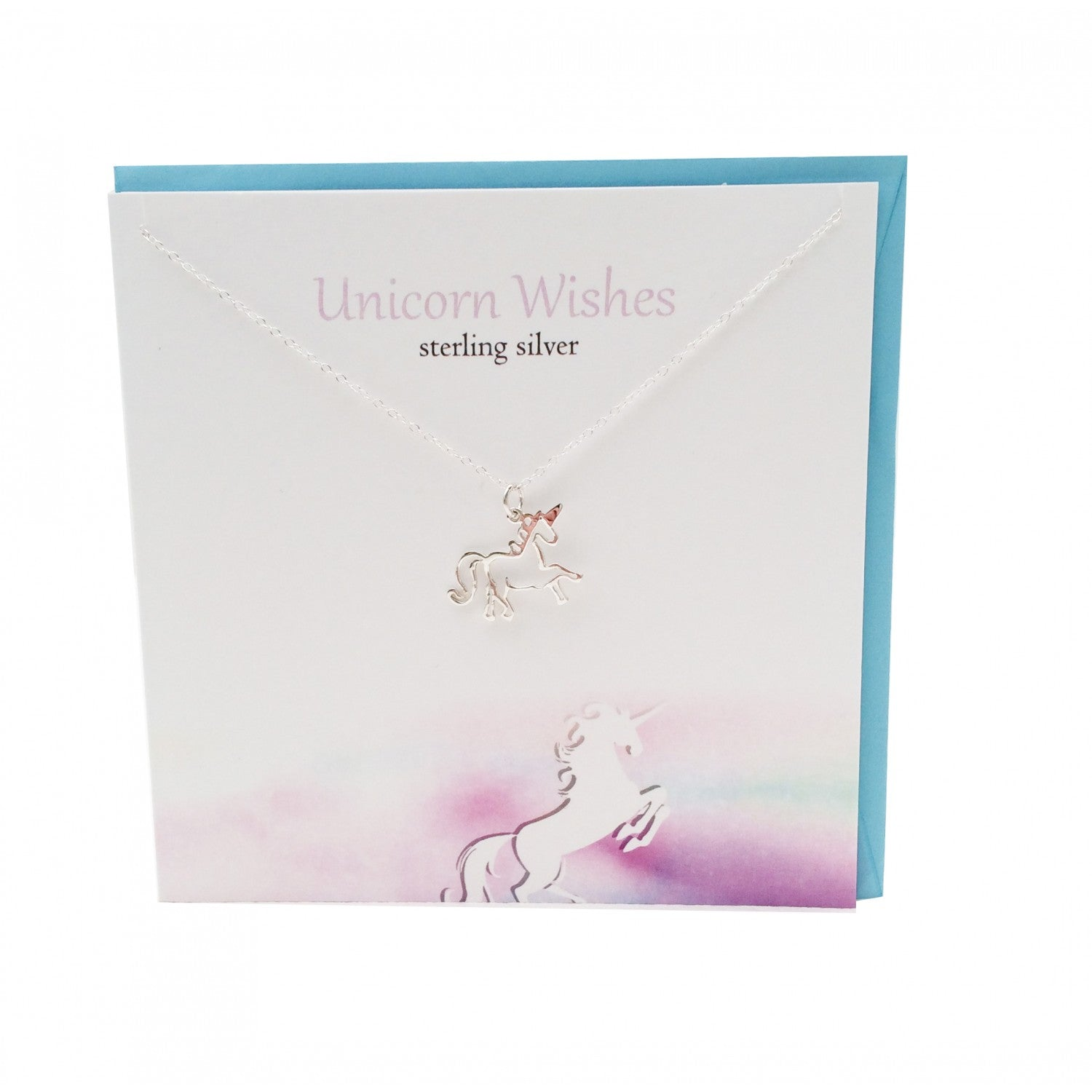 Unicorn Wishes Sterling Silver Pendant