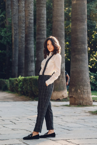 Chaplin Trousers with straps & Checks