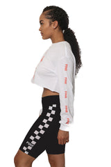 Checkered Logo Bike Shorts