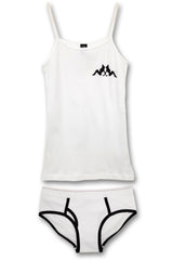 Tank Top & Boyfriend Brief Set (White)