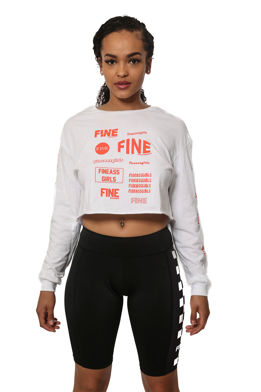 Race Day Cropped LS Tee