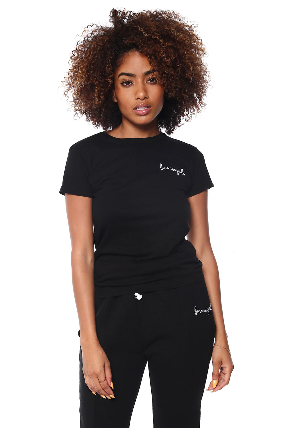 Crewneck Short Sleeve Tee - Black