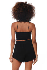 Crop Cami Top - Black