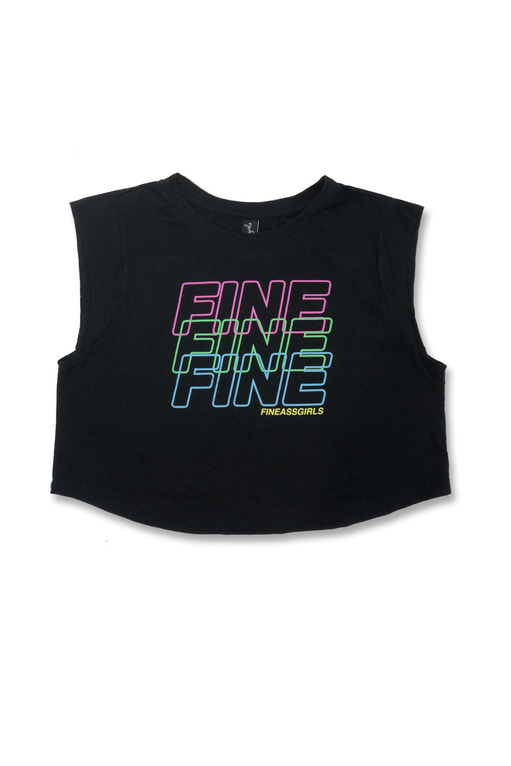 Fine on Repeat Crop Muscle Tank