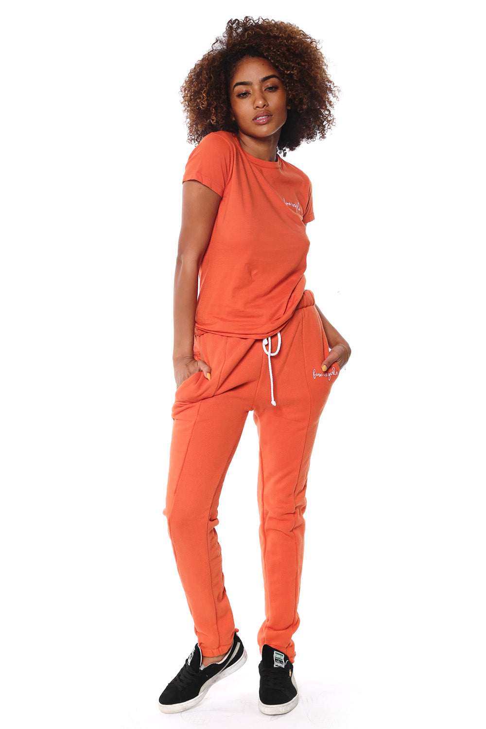 Fitted Sweatpants -Burnt Orange