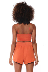 Knit Shorts - Burnt Orange