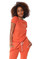 Crewneck Short Sleeve Tee - Burnt Orange