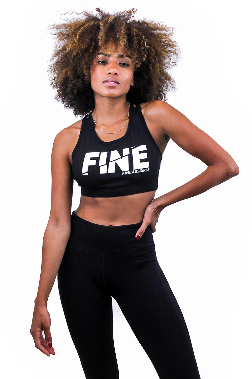 Spliced Logo Sports Bra