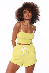 Crop Cami Top - Lime Green