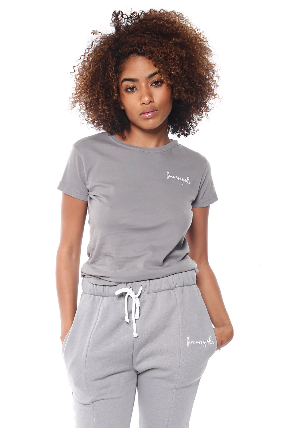 Crewneck Short Sleeve Tee - Gray