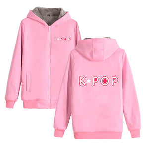 K-Pop  Zip Sweatshirt
