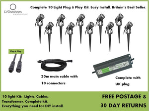 10 Light Plug and Play Kit LVOutdoors