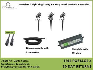 3 Light Plug and Play Kit LVOutdoors