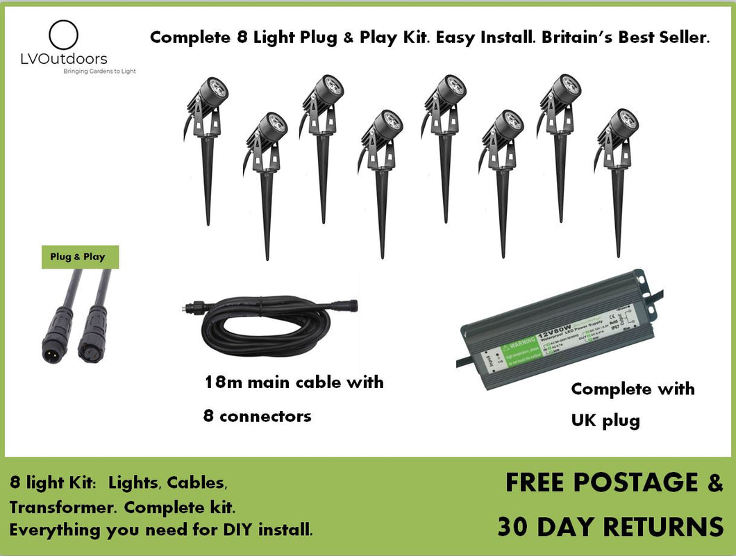8 Light Plug and Play Kit LVOutdoors