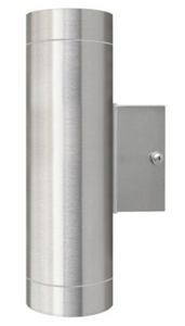 Stainless Steel Double Garden Up / Down wall light