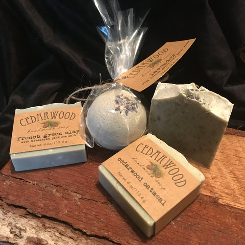 Handmade soaps and bath bombs
