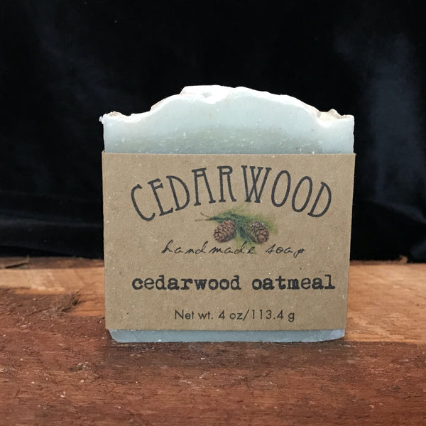 Handmade Cedarwood Oatmeal soap