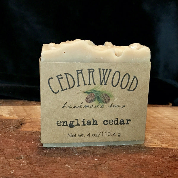 Handmade English Cedar beer soap