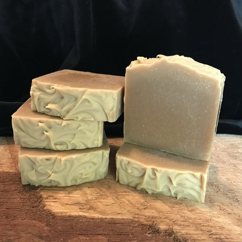 English Cedar handmade beer soap