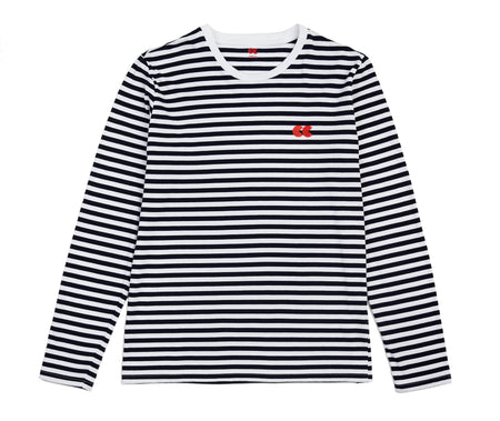 Men's Long Sleeve Stripe T-Shirt Navy/White