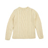 Women's Merino Cable Knit Jumper Ecru - Community Clothing