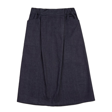 Women's Midi Skirt Dark Denim
