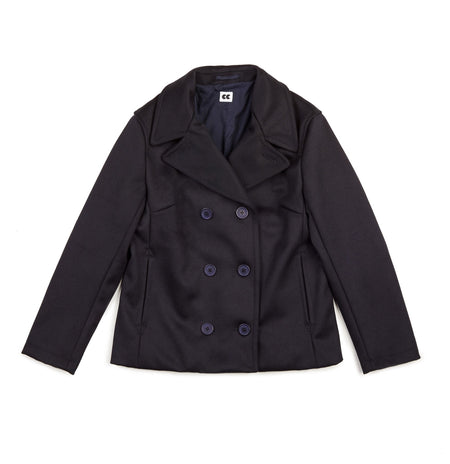 Women's Melton Peacoat Dark Navy