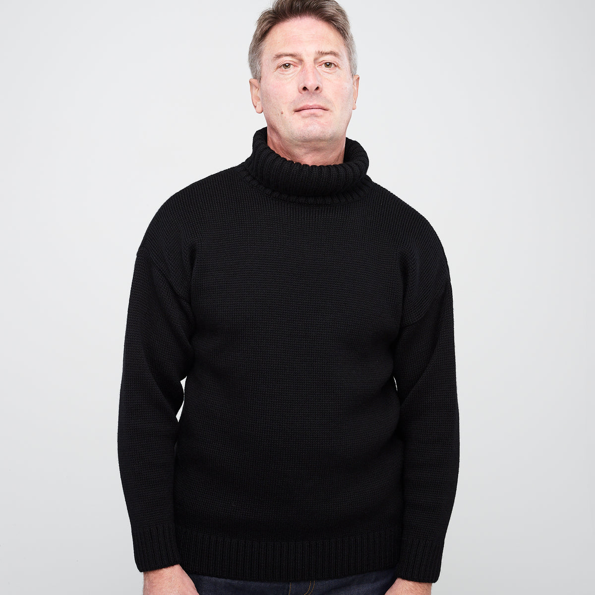Merino Submariner Jumper Black - Community Clothing