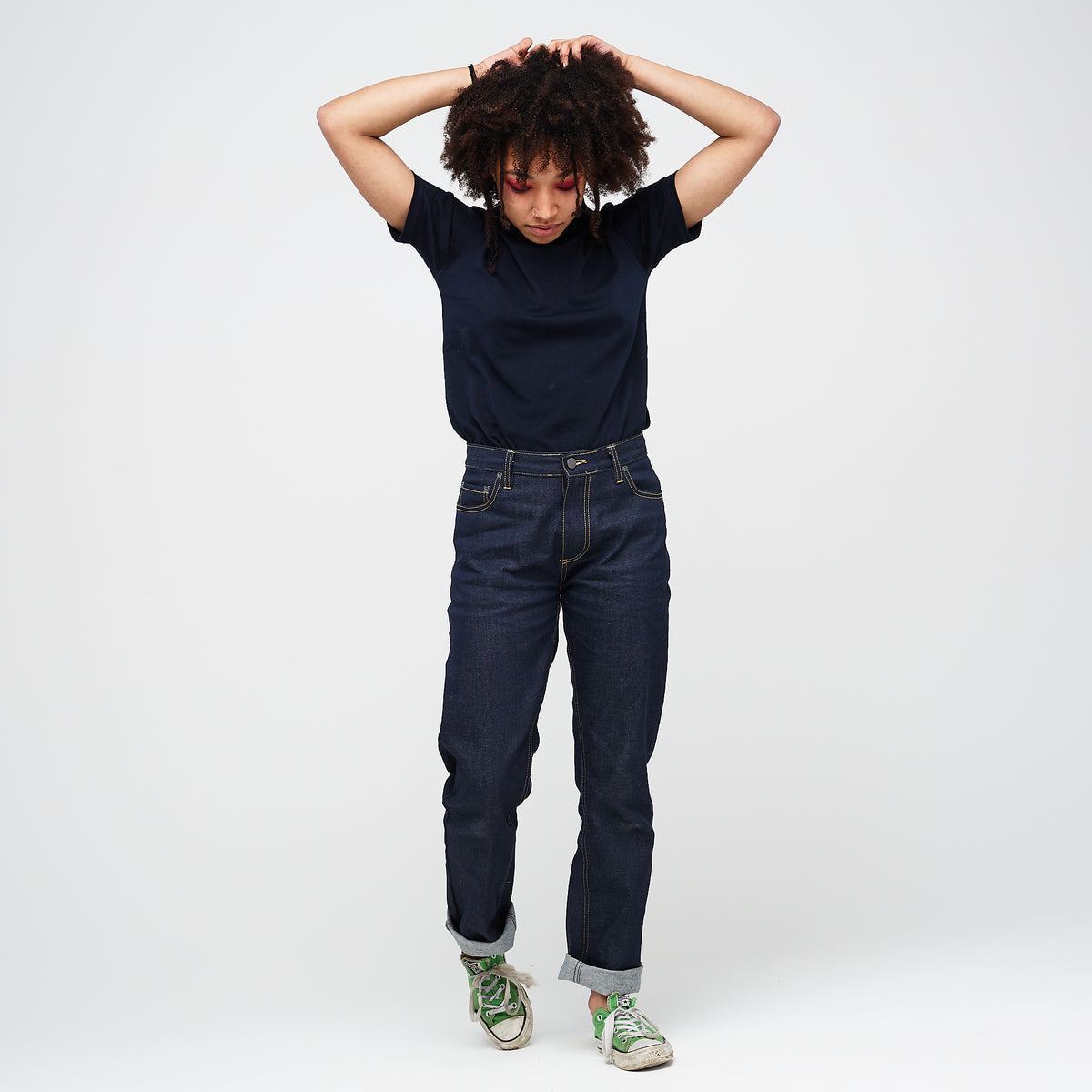 Women's Straight Leg Jeans Raw - Community Clothing