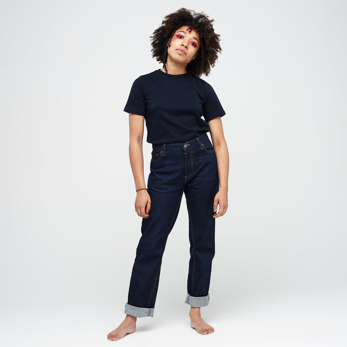 Women's Classic T-Shirt Navy - Community Clothing