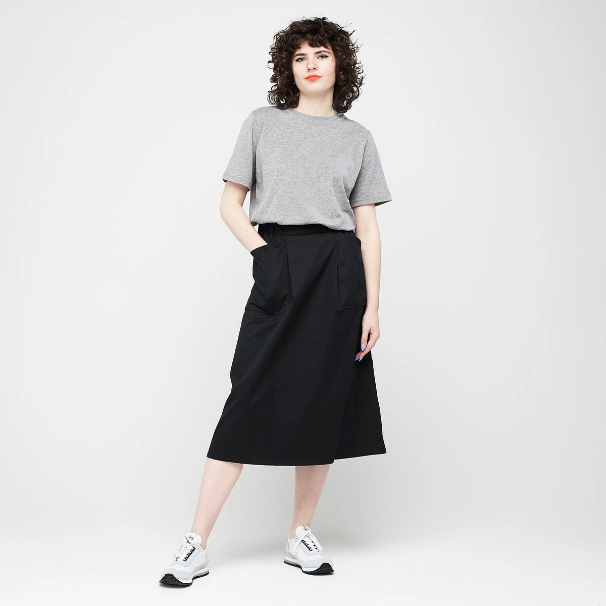 Women's Midi Skirt Black - Community Clothing