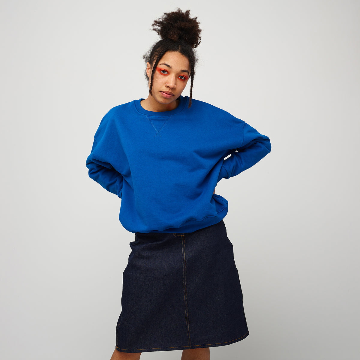 Women's Drop Shoulder Sweatshirt Cobalt - Community Clothing