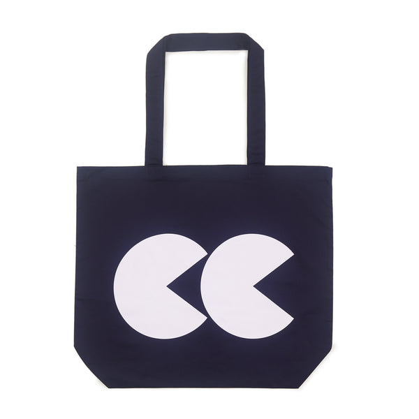 Printed CC Tote Bag Navy and White - Community Clothing