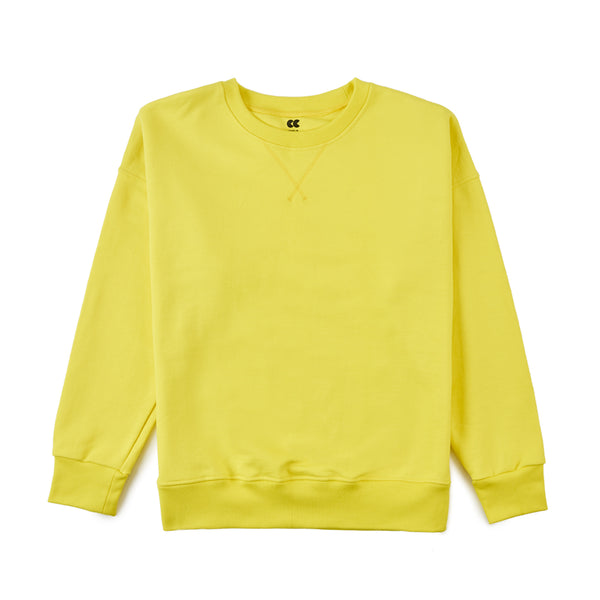 Men's Drop Shoulder Sweatshirt Canary Yellow - Community Clothing