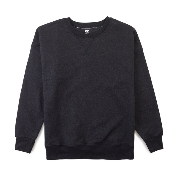 Men's Drop Shoulder Sweatshirt Charcoal - Community Clothing