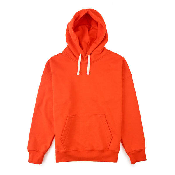 Mens Hooded Sweatshirt Flame Red - Community Clothing