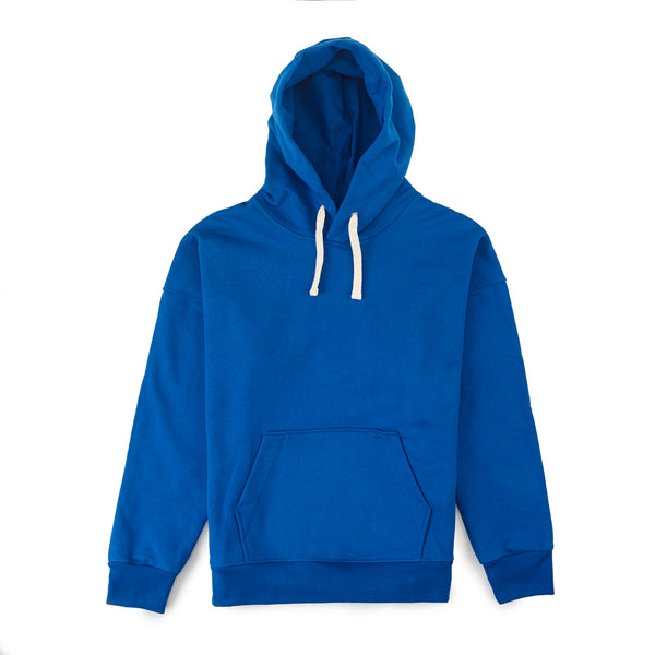 Mens Hooded Sweatshirt Cobalt - Community Clothing
